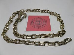 Auto Body Frame Machine Pull Chain 3 8 X 8 Grade 70 With 3 8 Clevis Slip Hook