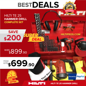 Hilti Te 25 Hammer Drill Preowned free Sid 2 a Free Extras Fast Shipping