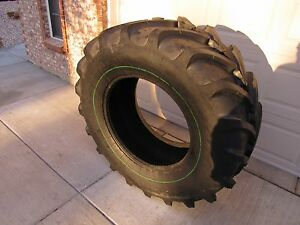Two 16 9r28 Tractor Combine Tires With Tubes 16 9 28