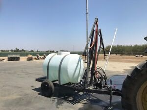 Commercial Solar Panel Washer Cleaner Trailer Mount 525 Gallon Water Tank