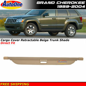 Retractable Tonneau Replace Cargo Cover Beige 99 To 04 Jeep Grand Cherokee Wk