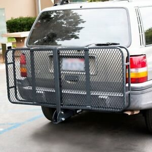 Foldable Luggage Basket Cargo Truck Car Carrier Rack Hitch Receiver Mount Hauler