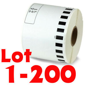 Lot 1 200rolls Dk 2205 Continuous Label Compatible Brother Option Of Cartridge