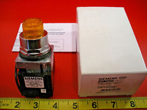 Siemens 52pt6d9ab Pushbutton Switch Pilot Light 24c Ac dc 30mm Amber Lens New