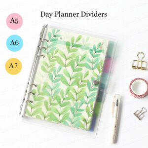 6 Pcs Set Floral Design Personal Planner Dividers Filiofax Binder Tabs A5 a6 a7