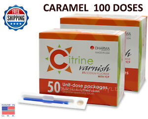 Citrine 5 Sodium Fluoride Varnish Caramel 0 4ml 100 Unit dose Packs Dental