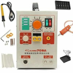 Upgraded 709a 3in1 Battery Spot Welder Mobile W pen Solder Iron Station 110 220v