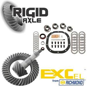Ford 8 8 10 Bolt 3 73 Richmond Excel Ring Pinion Gear Set W Master Bearing Kit