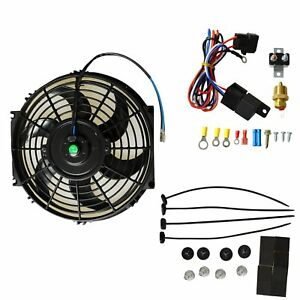 10 Electric Radiator Cooling Fan 3 8 Probe Ground Thermostat Switch Kit