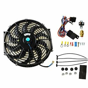 12 Electric Radiator Cooling Fan 3 8 Probe Ground Thermostat Switch Kit