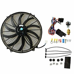 16 Electric Radiator Cooling Fan 3 8 Probe Ground Thermostat Switch Kit