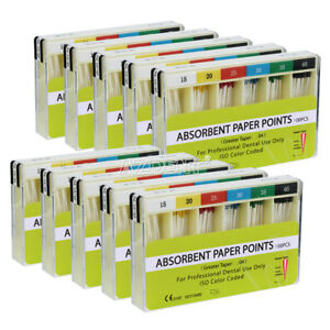 10 Packs Dental Absorbent Paper Points For Dental Use 7 Sizes Pp 0 04 15 40
