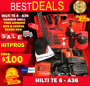 Hilti Te 6 A 36 Hammer Drill New Free Grinder Bits A Lot Extras Fast Ship