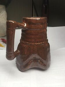 Vintage Tricone Drill Bit 5 Tall Oil Gas Water Well Coffee Mug Cup Frankoma