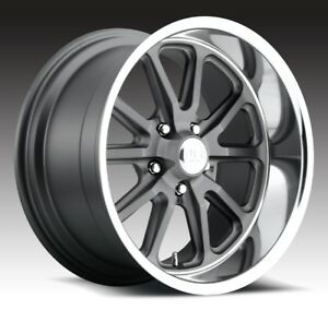 18x9 5 Us Mag Rambler U111 5x4 5 Et1 Gunmetal Matte Rims New Set Of 4