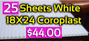 Coroplast White Sign Blanks 24 X18 25 Pack 44 Fast Shipping