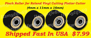 Pinch Rollers For Roland Vinyl Plotter Cutter 1 4x11x16 Us Fast Shipping