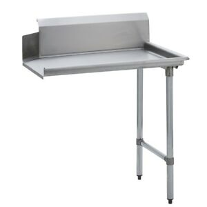 Stainless Steel Commercial Kitchen Clean Dish Table Right Side 30 X 48 G