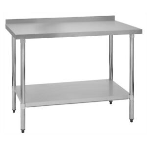 Stainless Steel Commercial Work Prep Table 2 Backsplash 30 X 48 G