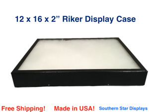 12 X 16 X 2 Riker Display Case Box For Collectibles Jewelry Arrowheads More