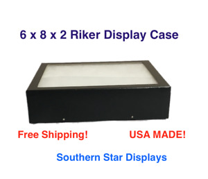 6 X 8 X 2 Riker Display Case Box For Collectibles Jewelry Arrowheads Fossil