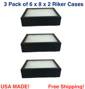 3 Pack Of 6 X 8 X 2 Riker Display Cases Box For Collectibles Arrowheads More