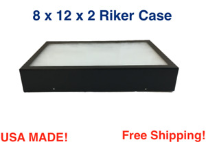 8 X 12 X 2 Riker Display Case Box For Collectibles Jewelry Arrowheads More