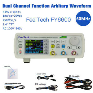Feeltech 15mhz 60mhz 2ch Dds Function Signal Generator Sine Square Sweep Counter