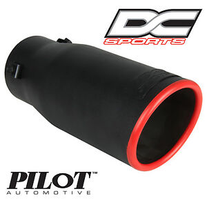 Dc Sports Bolt On Stealth Series Black Series Exhaust Muffler Red Tip 3 75 X 9