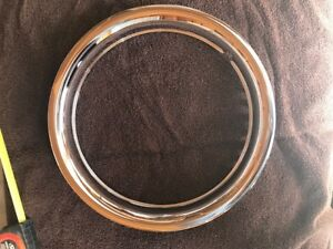 15 Chrome Steel Beauty Wheel Trim Rings Set Of Four Chevy Ford 15 Inch Gm Dodge