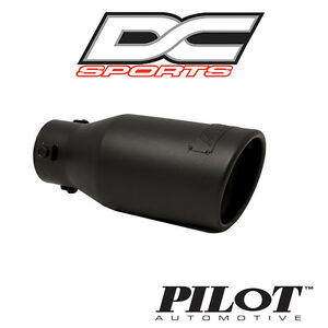 Dc Sports Bolt On Stealth Series Black Steel Exhaust Muffler Tip 3 75 X9 X 2 25