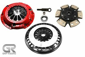 Grip Racing Stage 3 Clutch 12lbs Flywheel Kit For 240sx 2 4l Base Le Se Ka24de
