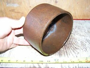 Old Ottawa Cast Iron Belt Pulley Hit Miss Gas Engine Steam Tractor Magneto Oiler