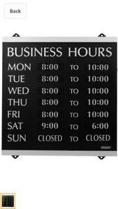 3 Century Series Open Close Monday Sunday Business Hours Of Operation Sign