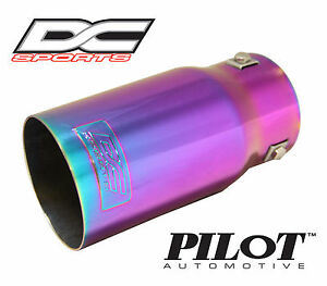 Dc Sports Bolt On Chameleon Color Steel Exhaust Muffler Tip 7 5 X 3 5 X 2 9