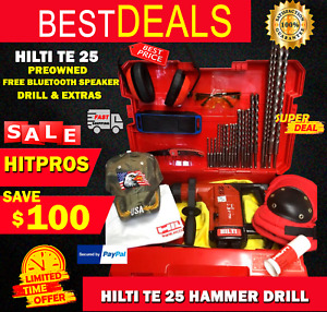 Hilti Te 25 Drill Preowned Free Bluetooth Speaker Drill Extras Fast Ship