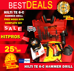 Hilti Te 6 c Hammer Drill Preowned Free Angle Grinder Fast Ship