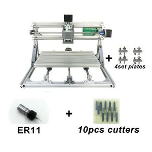 3 Axis Usb Diy Cnc 3018 Mill Wood Router Kit Engraver Pcb Milling Machine Er11