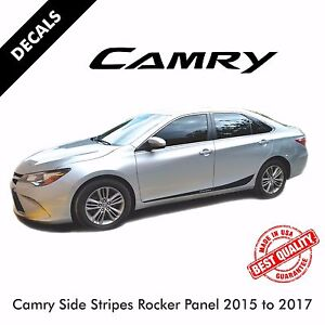 Toyota Camry Pre cut Side Stripes Rocker Panel Decals Vinyl 2015 To 2017 40
