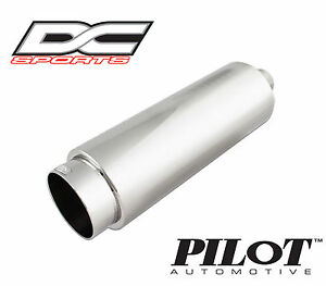 Dc Sports Stainless Steel Universal Exhaust Muffler Tip 2 Inlet 4 Outlet