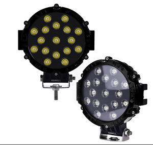 Kawell 2pcs 51w 7 Black Spot Round Led Work Light Off Road Fog Driving Roof