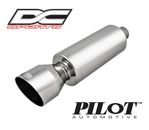 Dc Sports Universal Stainless Steel Exhaust Muffler 2 Inlet 4 25 Outlet