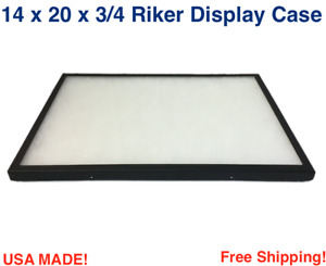 14 X 20 X 3 4 Riker Display Case Box For Collectibles Jewelry Arrowheads