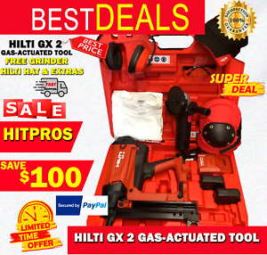 Hilti Gx 2 Gas actuated Tool New Free Grinder Hilti Hat Extras Fast Ship