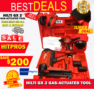 Hilti Gx 2 Gas actuated Tool New Free Hilti Sid 2 a Hat Extras Fast Ship