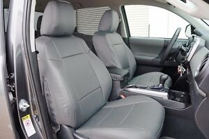 Toyota Tacoma Sport Trd 09 15 Grey S Leather Custom Made Fit Front Seat Cover