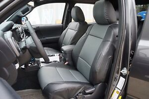 Toyota Tacoma Sport Trd 09 15 Black Charcoal S Leather Custom Front Seat Cover