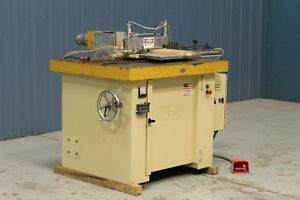 Used Ritter R1175c Single End Coping System Spindle Shaper