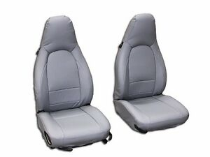 Porsche Boxster 1997 2004 Grey S Leather Custom Made Fit Front Seat Cover