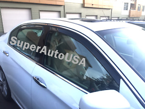 Fit For Honda Accord 13 17 In channel Window Vent Visors Rain Guards Deflector